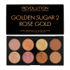 Палетка хайлайтеров Makeup Revolution Ultra Palette Golden Sugar 2 Rose Gold