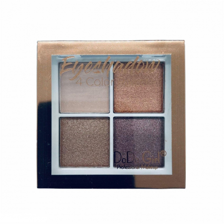 Тени для век шиммерные+матовые DoDo Girl Eyeshadow 4 цвета, тон 01