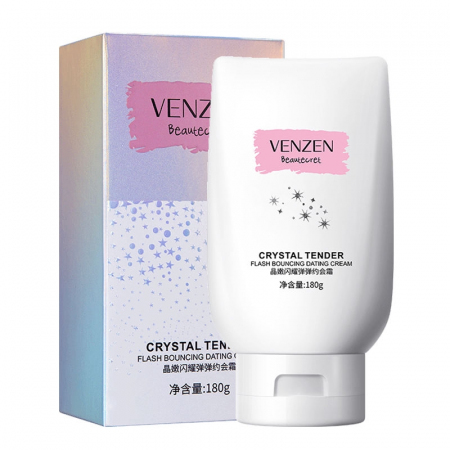 Осветляющий крем для тела Venzen Crystal Tender Flash Bouncine Dating Cream 180гр