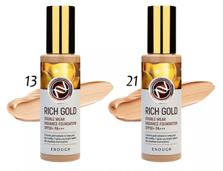 (Китай) Тональная основа Enough Rich Gold Double Wear Radiance Foundation (Тон 21)