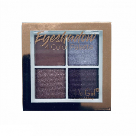 Тени для век шиммерные+матовые DoDo Girl Eyeshadow 4 цвета, тон 03