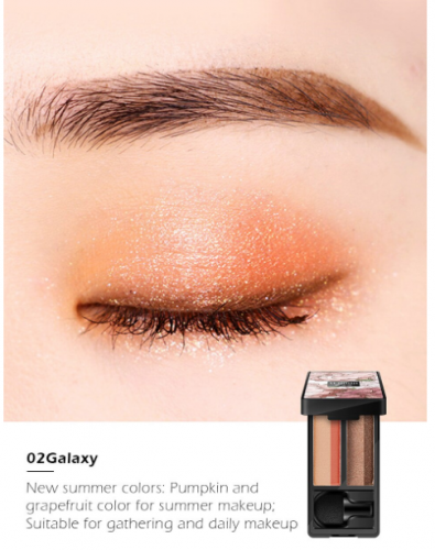 Тени для век SENANA Lazy Double-Tone Gradient Eye Shadow тон 02