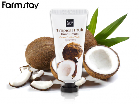 Крем для рук FarmStay с Кокосом Tropical Fruit Hand Cream 50мл