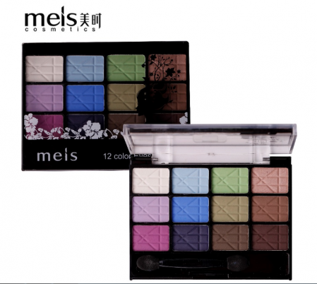Тени для век Meis Professional Makeup Eyeshadow 12 цветов тон 03