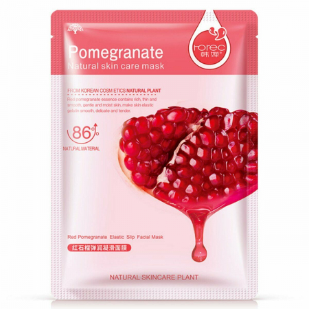 Тканевая маска Rorec Pomegranate Natural Skin Care Mask