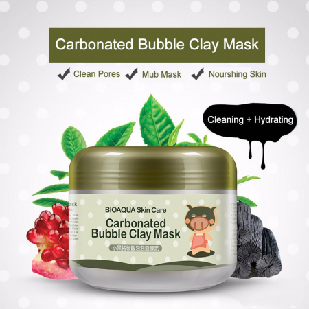Кислородная маска для лица BioAqua Carbonated Bubble Clay Mask 100гр