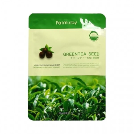 (Китай) Тканевая маска FarmStay Visible Difference Mask Sheet Green Tea Seed