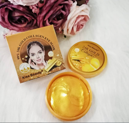 Гидрогелевые патчи Kiss Beauty 99% 24K Gold Collagen Eye Mask 60шт